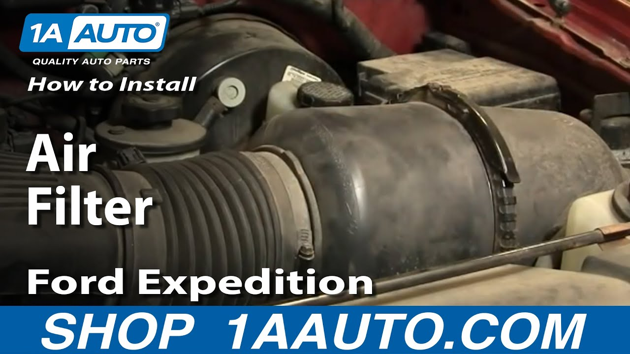 How To Install Replace Air Filter Ford F150 Expedition 97 03 1aauto 2004 Rear Wiper Wiring Diagram Youtube Premium