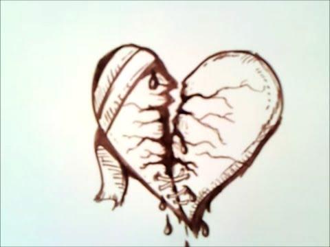 Comment Dessiner Un Coeur Brise Youtube