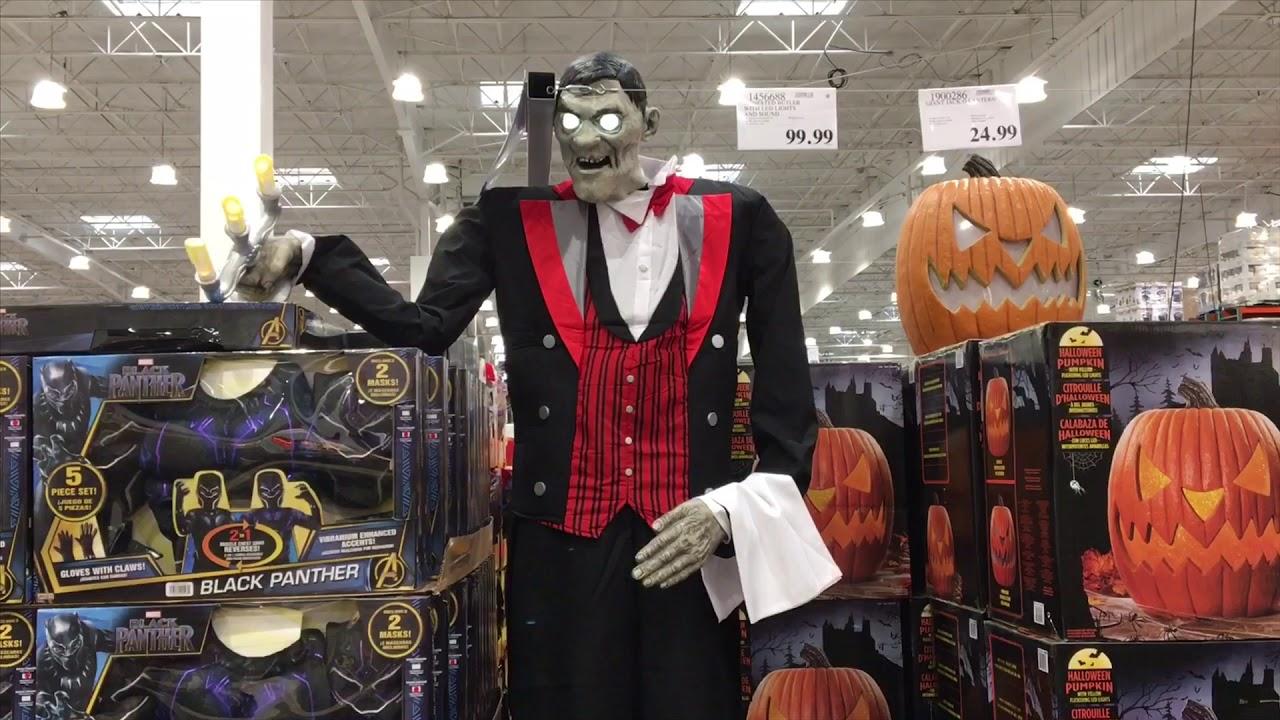 Costco Halloween 8 Foot Tall Decoration Frankenstein Butler Dracula Vampire Decorations Pumpkin