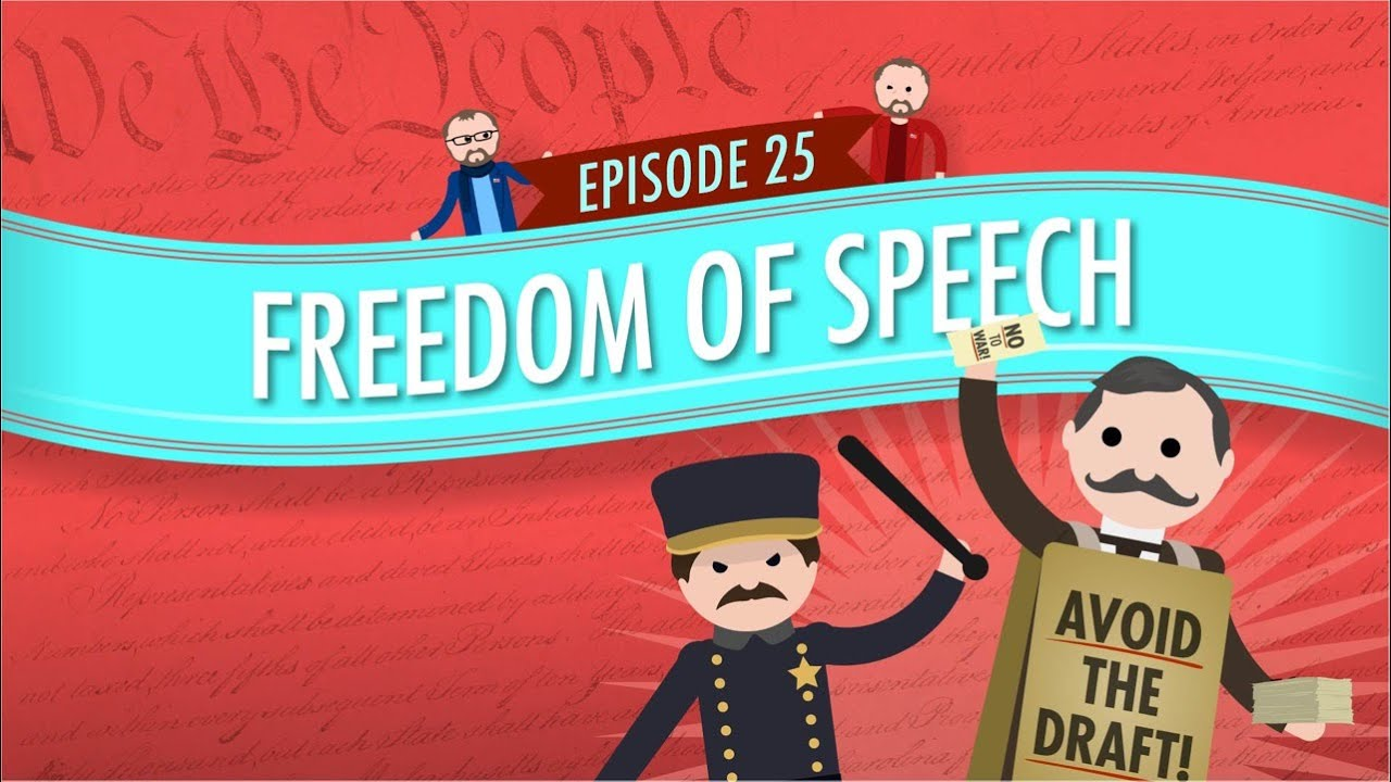Freedom Of Speech Crash Course Government And Politics 25 Youtube