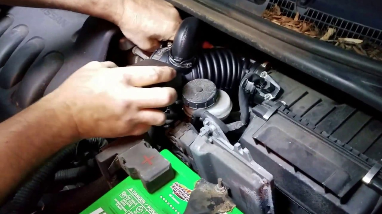 Nissan Sentra 2007 to 2012 Intake tube replacement - YouTube