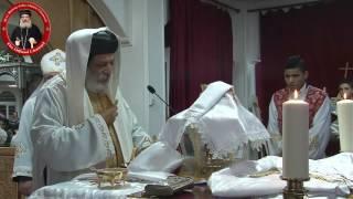 قداس الأنبا كيرلس والأنبا أباكير بكنيسة مارمينا السويد 25 12 16 Anba Kyrillos Anba Abakir Liturgy