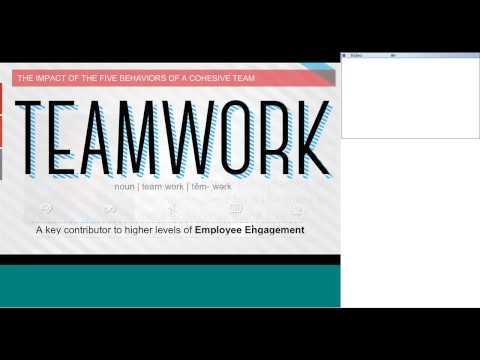 The Five Behaviors of a Cohesive Team Webinar