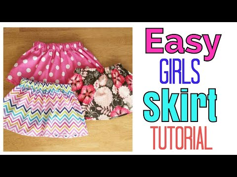 easy-girl-skirt-tutorial-|-elastic-skirt-|-little-girl-clothes