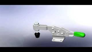 Carr Lane Horizontal Handle Locking Toggle Clamp, Cl-450-lhtc