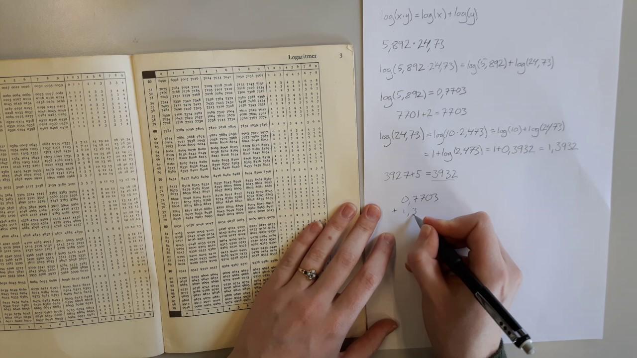 Sådan bruger man logaritmer til at gange tal sammen