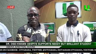 Dr. Osei Kwame Despite Supports Needy But Brilliant Student