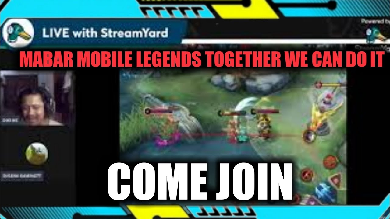 LIVE MABAR MOBILE LEGENDS TOGETHER WE CAN DO IT