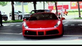 شاهد: كيانو ريفز يختبر سيارة فيراري 488 GTB في إيطاليا