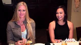 Holly Holm and Michelle Waterson UFC media lunch