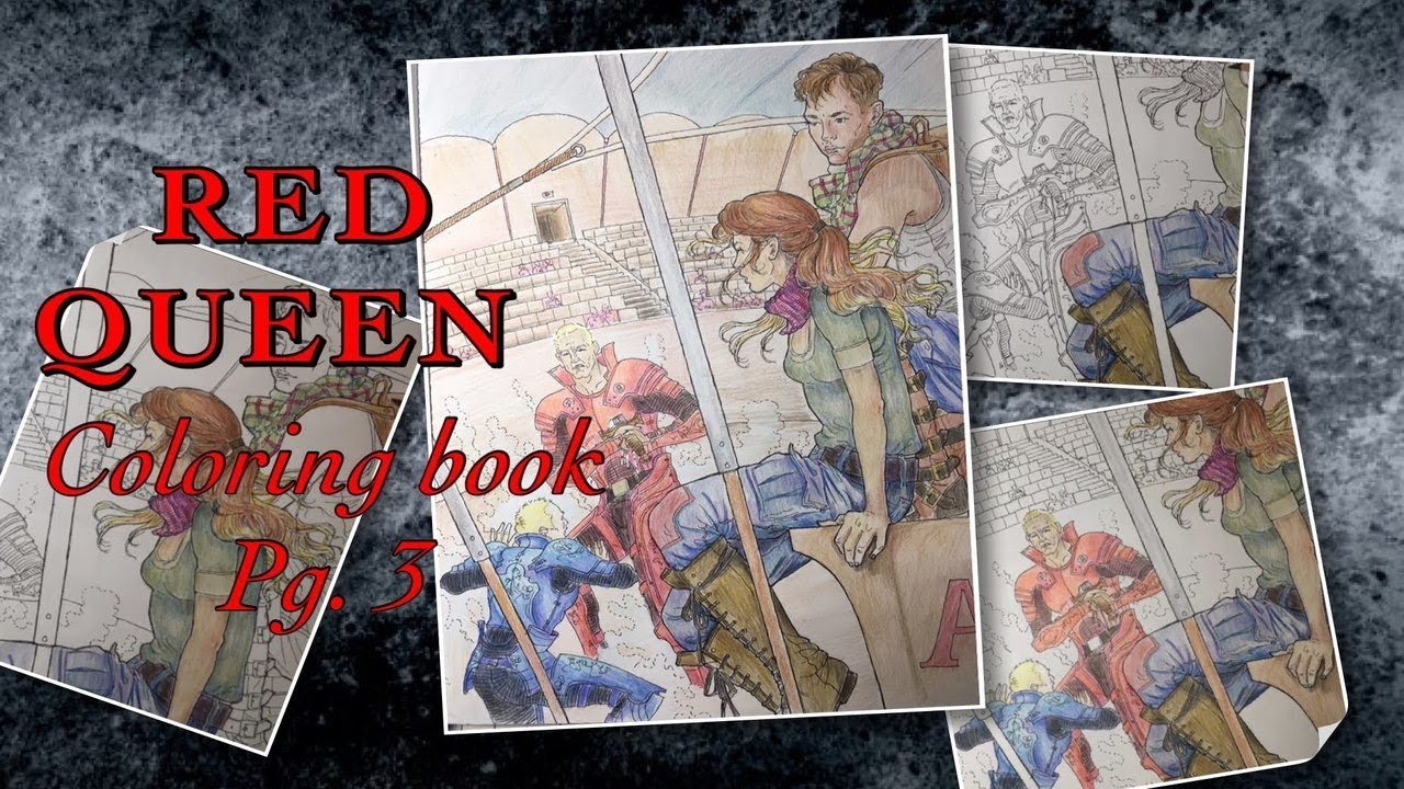 Speed Draw Red Queen Coloring Book Pg 3