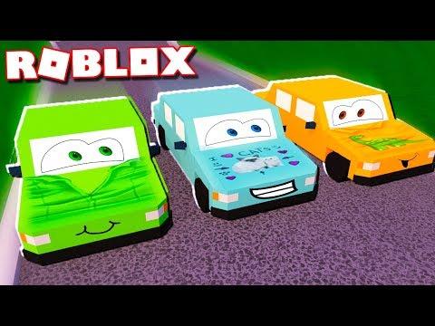 DENIS, ALEX & SUB IN CARS 3 IN ROBLOX!