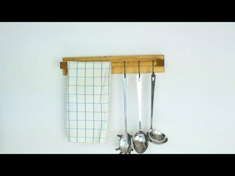 Kitchen Tool Holder Wine Rack Diy Wooden Utensil Youtube