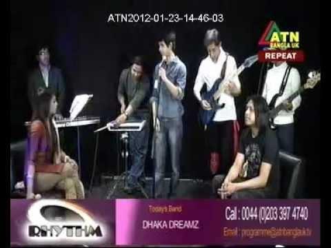 "Dhaka Dreamz ""RHYTHM ""Live Band Show.ATN Bangla UK"