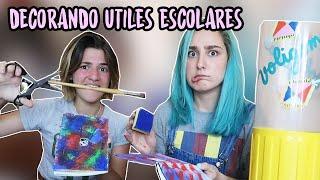 DECORANDO UTILES ESCOLARES | ft STEFF de PEGAMENTE