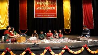 Rag Bhoopali Sargam presented by tiny tots at Ragas Annual Recital 2014