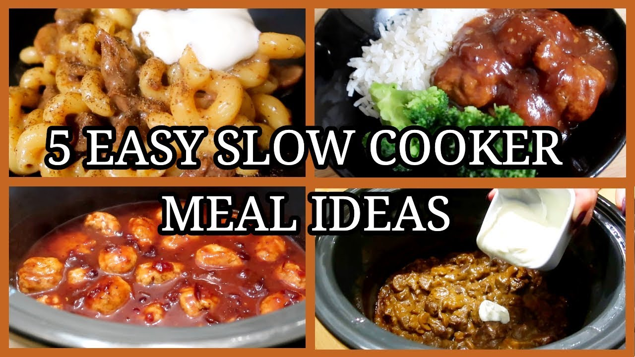5 SIMPLE SLOW COOKER MEALS ~EASY FAMILY MEAL IDEAS