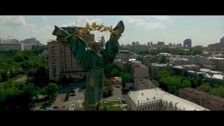 Flying over the Kiev by drone || Киев с высоты птичьего полёта || Полёт на дроне по Киеву