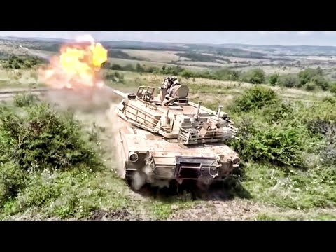 Abrams Tanks Shooting In Romania • With Drone Footage