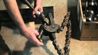 Old plumber shows how to cut cast iron pipe.