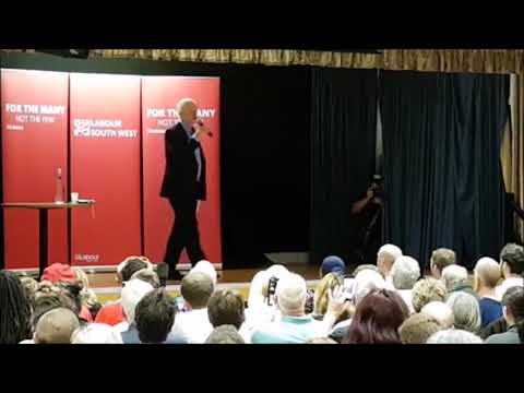 Jeremy Corbyn gets a great reception on his visit to Bristol