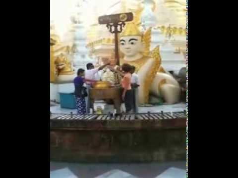 Visite de Rangoon et de la pagode Shwedagon Birmanie Myanmar