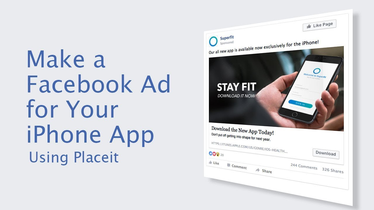 How to make a Facebook Ad for You iPhone App