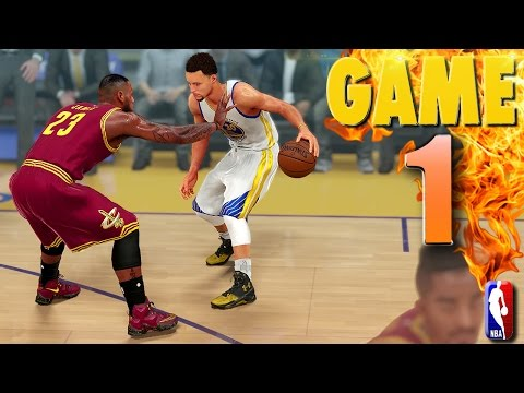 Golden State Warriors vs Cleveland Cavaliers Game 1 NBA Finals - NBA 2K16 Prediction