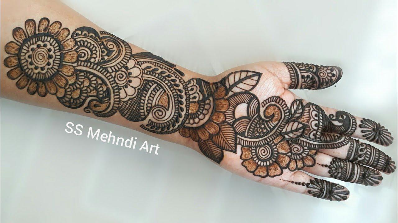latest easy arabic mehndi design for full hand||SS Mehndi ...