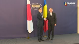 Delegația executivului japonez, primită de vicepremierul Paul Stănescu, la Palatul Victoria