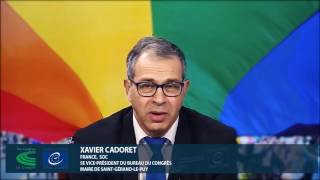 """Come out for Human Rights"", un message de Xavier Cadoret, Vice-Président du Congrès"