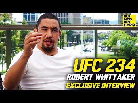 Robert Whittaker on Israel Adesanya, Predicts He'll  Starch  Kelvin Gastelum at UFC 234