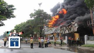 Khống chế vụ cháy lớn tại Khu công nghiệp Sài Đồng