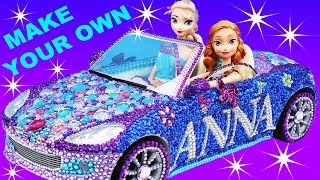 FROZEN ANNA CAR VIOLET CRUZE Makeover Make Your Own + Elsa Car Barbie Car