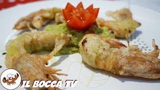 541 - Mazzancolle fritte in tempura con salsa guacamole..rimarrai senza parole!(antipasto capodanno)