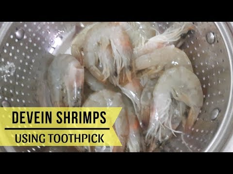 How to Devein Shrimps with Shell On (using Toothpick)