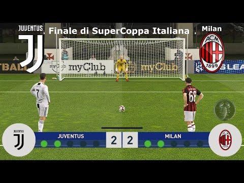Juventus Vs Milan - Finale di SuperCoppa Italiana (Calci di Rigore) | PES 2019 Patch [Giù]