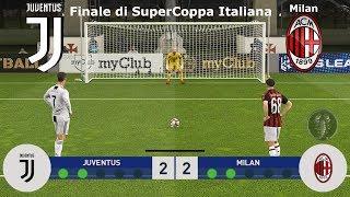 Juventus Vs Milan - Finale di SuperCoppa Italiana (Calci di Rigore)   PES 2019 Patch [Giù]