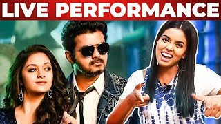 Sarkar-OMG Ponnu Song Live Singing by Singing Stars