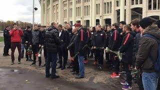 «Спартак» почтил память болельщиков, погибших в «Лужниках» в 1982 году