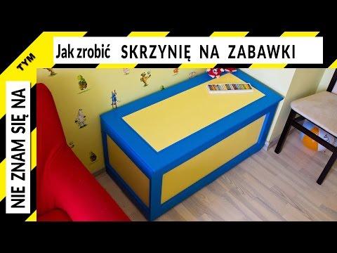 Jak zrobić skrzynię na zabawki, komodę