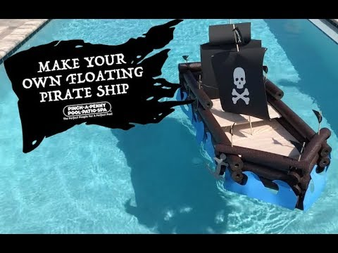 Build a DIY floating pirate ship.