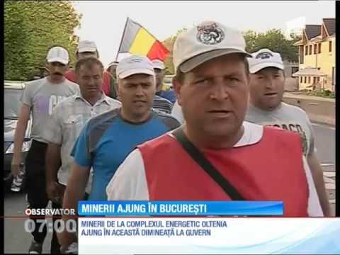 Aproape 100 de mineri de la Complexul Energetic Oltenia vin să protesteze în faţa Guvernului