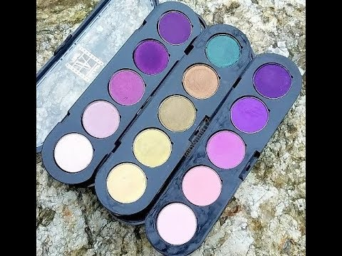 Swatches Of The Make-Up Atelier Eye Shadow Palette's From Beautylish