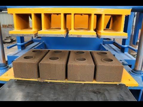 SYN4-5 Automatic hydraulic interlocking soil cement earth compressed block making machine