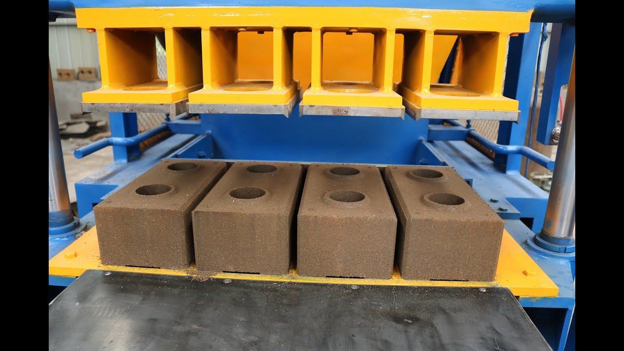 Interlocking Compressed Earth Block Machine : Hr automatic hydraulic interlocking soil cement earth