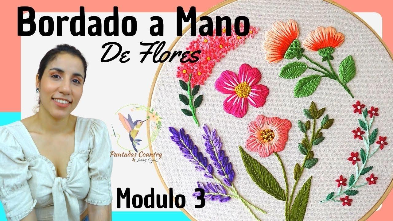 Bordado De Flores A Mano Para Principiantes Paso A Paso Modulo 2 Youtube