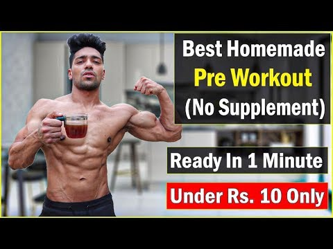 Homemade PRE WORKOUT Drink (Without Supplement) - Under Rs. 10 Only