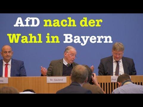 AfD-Spitze nach der Landtagswahl in Bayern - BPK vom 15. Oktober 2018