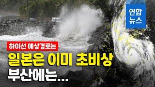 태풍 '하이선'에 오키나와 정전사태, 부…